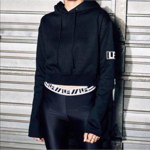 LF the Brand Cropped Sweatshirt Hoodie